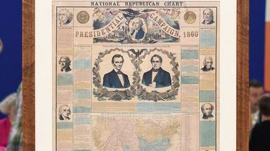 Appraisal: 1860 Republican Presidential Campaign Chart