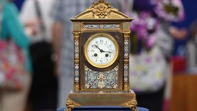 Appraisal: French Champlevé Mantel Clock