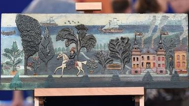 Appraisal: Folk Art Carved Panel, ca. 1900