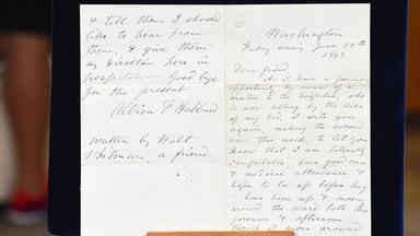Appraisal: Walt Whitman Civil War Letter