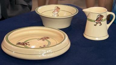 Appraisal: Roseville Pottery Santa Dishes