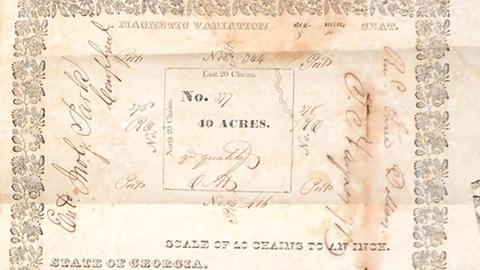Antiques Roadshow -- S19 Ep32: Appraisal: 1832 Georgia Land Grants & Deeds