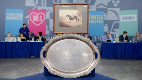 Antiques Roadshow -- Appraisal: 1919 Belmont Stakes Sterling Silver Trophy Tray