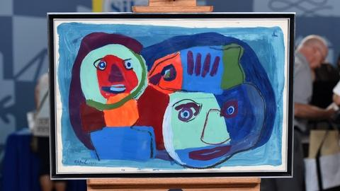 Antiques Roadshow -- S20 Ep2: Appraisal: 1967 Karel Appel Acrylic on Paper