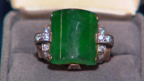 Antiques Roadshow -- Appraisal: Chinese Jadeite & Diamond Ring