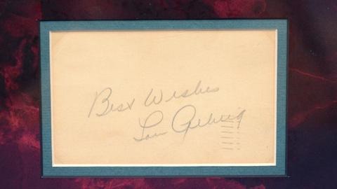 Antiques Roadshow -- S20 Ep4: Appraisal: 1936 Lou Gehrig Autograph