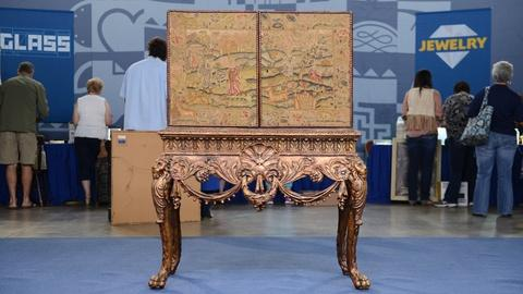 Antiques Roadshow -- S20 Ep4: Appraisal: English Giltwood Cabinet-on-Stand, ca. 1