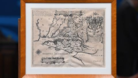 """Antiques Roadshow -- S20 Ep5: Appraisal: 1671 """"Lord Baltimore"""" Maryland Map"""
