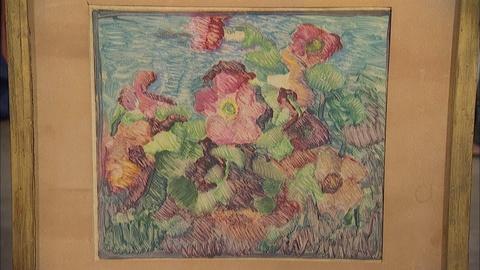 "Antiques Roadshow -- S20 Ep5: Appraisal: 1926 Blanche Lazzell ""Petunias"" Monoprin"