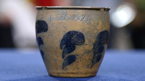 Antiques Roadshow -- S20 Ep6: Appraisal: 1874 Jacob Swank Miniature Stoneware Cro