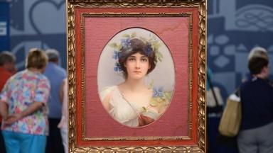 """Appraisal: KPM Wagner""""Daphne""""Porcelain Plaque,ca. 1880"""