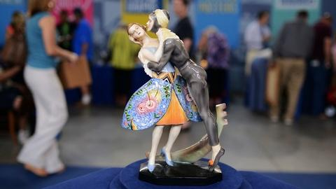 Antiques Roadshow -- S20 Ep7: Appraisal: Goldscheider Art Deco Figural Group, ca.