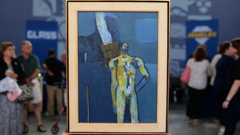 "Antiques Roadshow -- S20 Ep7: Appraisal: 1957 Keith Vaughan ""Bather"" Oil Painting"