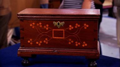 Appraisal: 18th-Century Pennsylvania Walnut Valuables Box