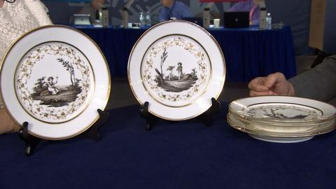 Antiques Roadshow -- S20 Ep10: Appraisal: French Hand-painted Plates, ca. 1820