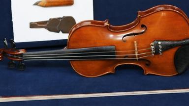 Appraisal: Nicholas Heinz Violin Group & French Bow