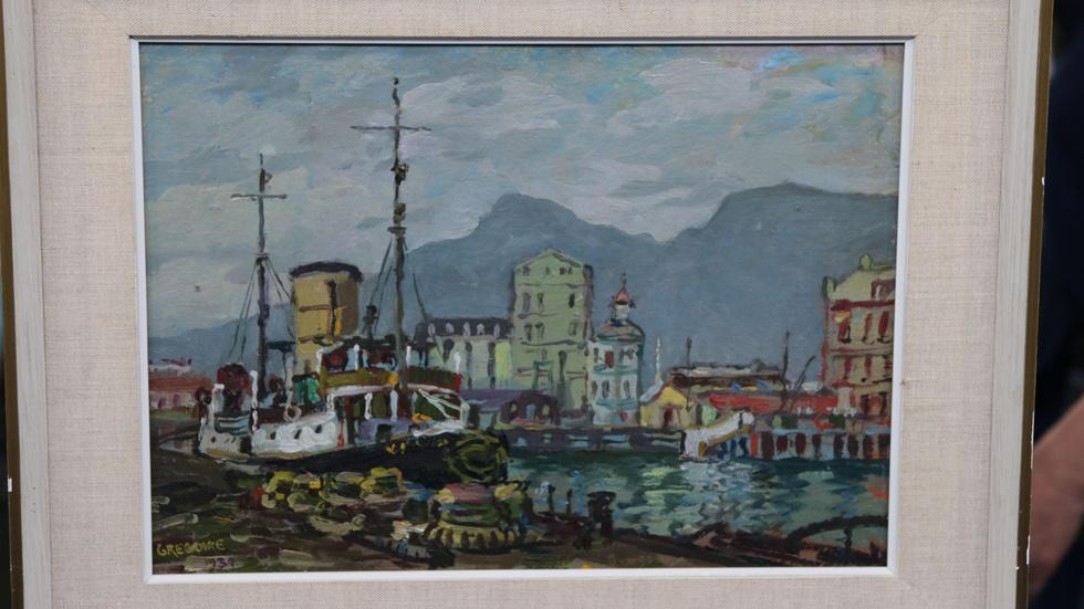 "Appraisal: 1939 Gregoire Boonzaier ""View of Cape Town"" Oil image"