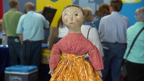 Antiques Roadshow -- S20 Ep15: Appraisal: Oil-painted Cloth Early American Doll,