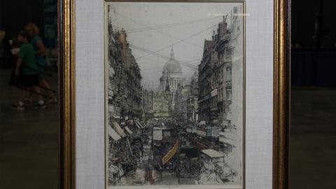 Antiques Roadshow -- S20 Ep16: Web Appraisal: 1925 Luigi Kasimir Color Etching &