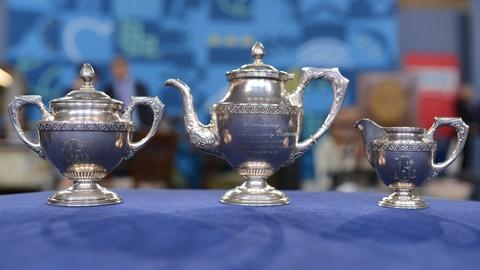 Antiques Roadshow -- Appraisal: Russian Silver Tea Service, ca. 1916
