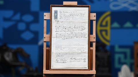Antiques Roadshow -- Appraisal: 1870 George & Elizabeth Custer Signed Deed