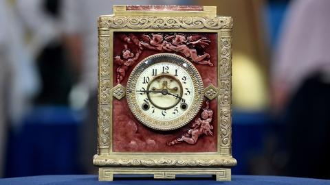 Antiques Roadshow -- Appraisal: J. & J.G. Lowe Tile & New Haven Cock Co. Clock