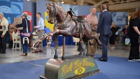 """Antiques Roadshow -- S20 Ep18: Appraisal: """"Big Bronco"""" Coin-Operated Horse, ca. 1"""