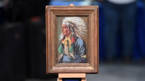 "Antiques Roadshow -- S20 Ep18: Appraisal: John Hauser ""Joe Black Fox"" Painting, c"