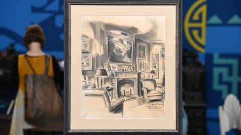 Antiques Roadshow -- S20 Ep18: Appraisal: Everett Shinn Charcoal & Ink Wash on Pa