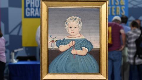 Antiques Roadshow -- S20 Ep18: Appraisal: Folk Art Portrait of a Child, ca. 1838