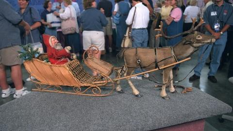 Antiques Roadshow -- Appraisal: Santa & Reindeer Display, ca. 1925
