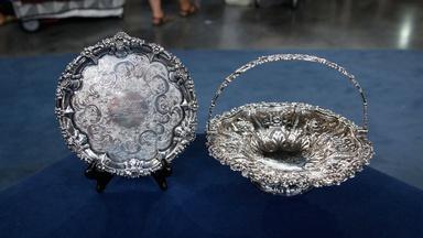 Appraisal: Silver Salver & Cake Basket