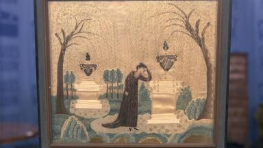 Appraisal: Silk-embroidery Mourning Picture, ca. 1810