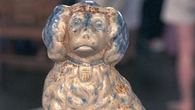 Appraisal: 1889 American Stoneware Spaniel