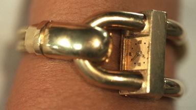 Appraisal: Ed Wiener Gold Bracelet Watch, ca. 1945