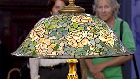 Antiques Roadshow -- S20 Ep27: Appraisal: Tiffany Studios Rose Helmet Lamp, ca. 1