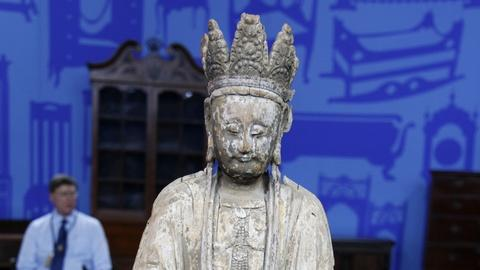 Antiques Roadshow -- S20 Ep28: Appraisal: Chinese Wooden Guanyin Figure, 1200 - 1