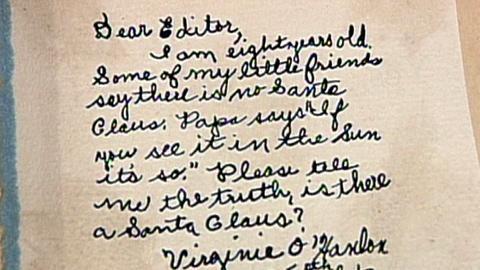 "Antiques Roadshow -- S16 Ep22: Appraisal: 1897 ""Yes, Virginia"" Santa Claus Letter"