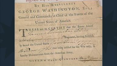 Appraisal: 1783 Washington-signed Discharge