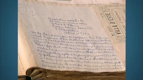 Antiques Roadshow -- S20 Ep27: Appraisal: 1912 Titanic Survivors Letter