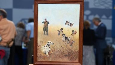 Appraisal: 1942 Lynn Bogue Hunt Painting