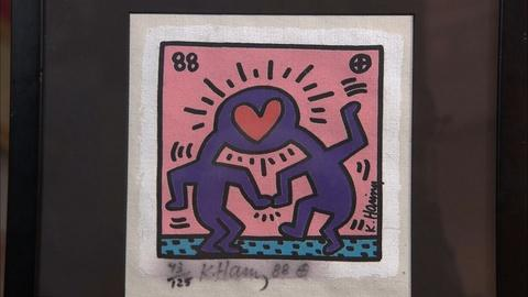 Antiques Roadshow -- S20 Ep26: Appraisal: 1988 Keith Haring Screenprint on Canvas