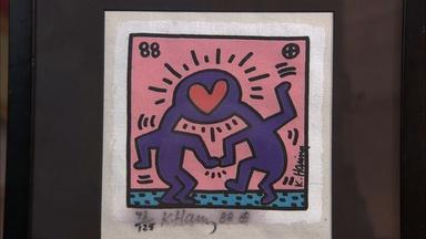 Appraisal: 1988 Keith Haring Screenprint on Canvas