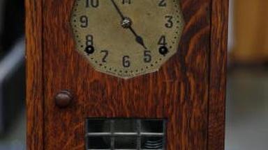 Appraisal: Gustav Stickley Oak Mantel Clock, ca. 1911