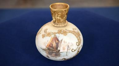 Appraisal: Mt. Washington Glass Co. Crown Milano Vase