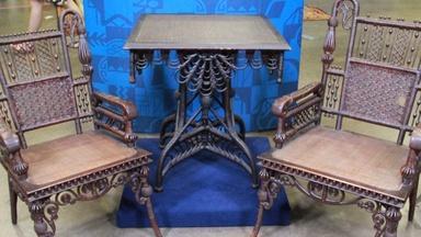 Web Appraisal: Rattan Armchairs & Table, ca. 1875