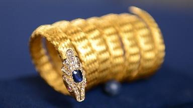 Appraisal: English Gold & Sapphire Snake Bracelet, ca. 1875