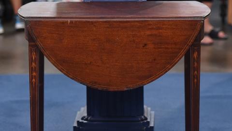 Antiques Roadshow -- S21 Ep3: Appraisal: Inlaid Baltimore Pembroke Table, ca. 179