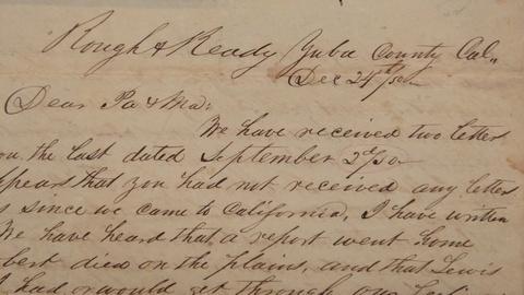Antiques Roadshow -- S21 Ep3: Appraisal: California Gold Rush Letters, ca. 1850