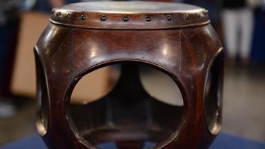 Appraisal: Chinese Hongmu Drum Stool, ca. 1720